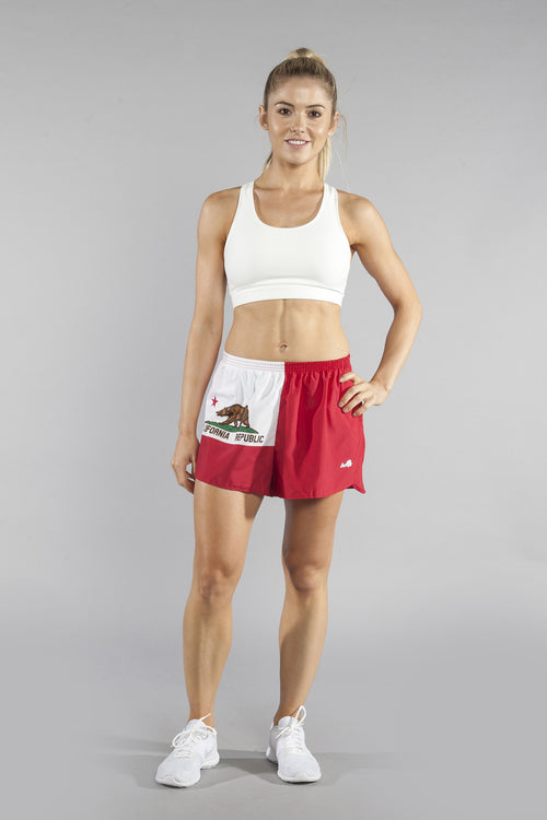 "WOMEN'S 1.5"" SPLIT TRAINER SHORT- CALIFORNIA - BOAUSA"