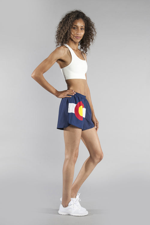"WOMEN'S 1.5"" SPLIT TRAINER SHORT- COLORADO - BOAUSA"