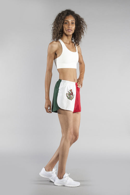 "WOMEN'S 1.5"" SPLIT TRAINER SHORT- MEXICO - BOAUSA"