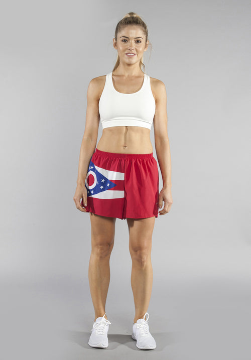 "WOMEN'S 1.5"" SPLIT TRAINER SHORT- OHIO - BOAUSA"