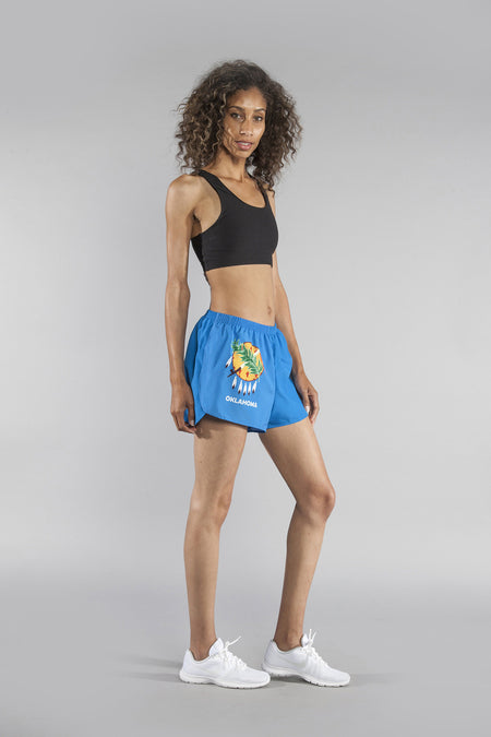 "WOMEN'S 1.5"" SPLIT TRAINER SHORT- OHIO"
