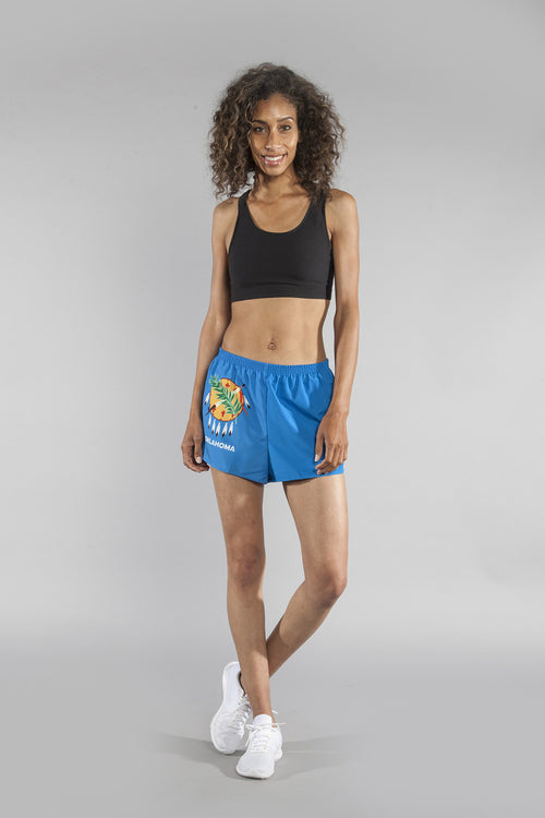 "WOMEN'S 1.5"" SPLIT TRAINER SHORT- OKLAHOMA - BOAUSA"