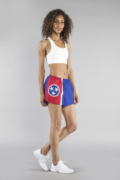 "WOMEN'S 1.5"" SPLIT TRAINER SHORT- TENNESSEE - BOAUSA"