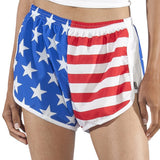 WOMENS STRETCH CHALLENGER SHORT- US FLAG