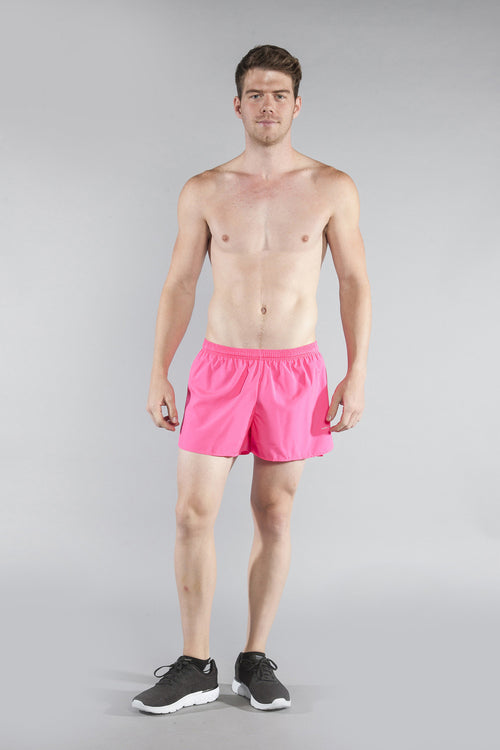 "MEN'S 3"" HALF SPLIT TRAINER- HOT PINK - BOAUSA"