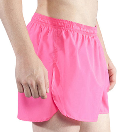 "Men's Neon Lime 3"" Half Split Shorts"