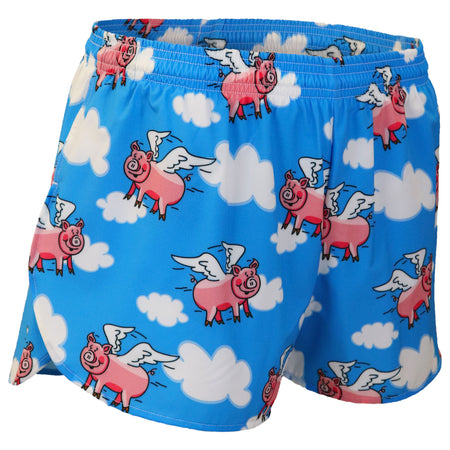 "Men's Hot Pink 3"" Half Split Shorts"