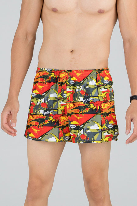 "MEN'S STRETCH 3"" PRINTED HALF SPLIT TRAINER- ELEPHANT"