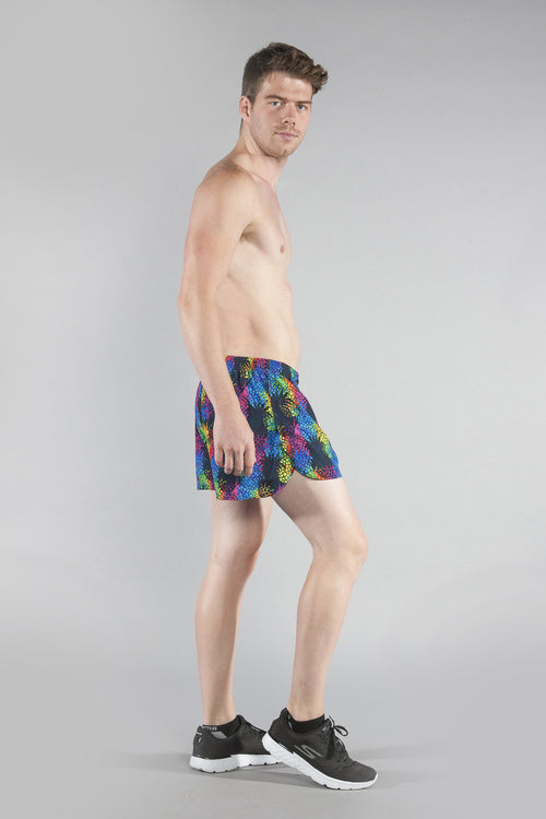 "MEN'S STRETCH 3"" PRINTED HALF SPLIT TRAINER- PINA COLADA - BOAUSA"