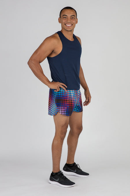 "MEN'S STRETCH 3"" PRINTED HALF SPLIT TRAINER- GALAXY"