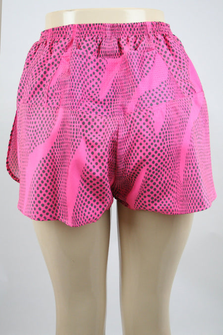 "WOMENS STRETCH 1"" ELITE PRINTED SPLIT RUN SHORT- DAHLIA"