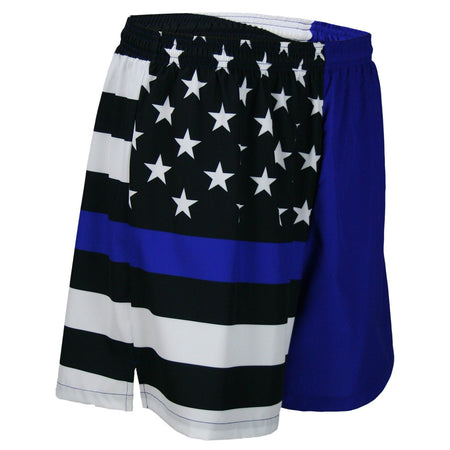 "MEN'S 5.5"" V-NOTCH GYM SHORT- PUERTO RICO"