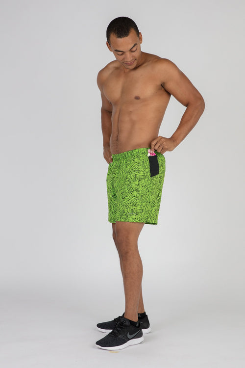 "Men's Hyper Lime 2n1 5"" Ultra Shorts"