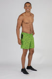 MENS 2-n-1 5 INCH ULTRA RUNNING SHORTS- HYPER LIME