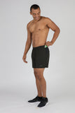 MENS 5 INCH ULTRA RUNNING SHORTS- CYPHER BLACK/YELLOW