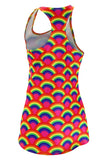 WOMEN'S INTERVAL SINGLET- RUNNING RAINBOWS