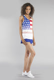 WOMEN'S INTERVAL SINGLET- US FLAG - BOAUSA