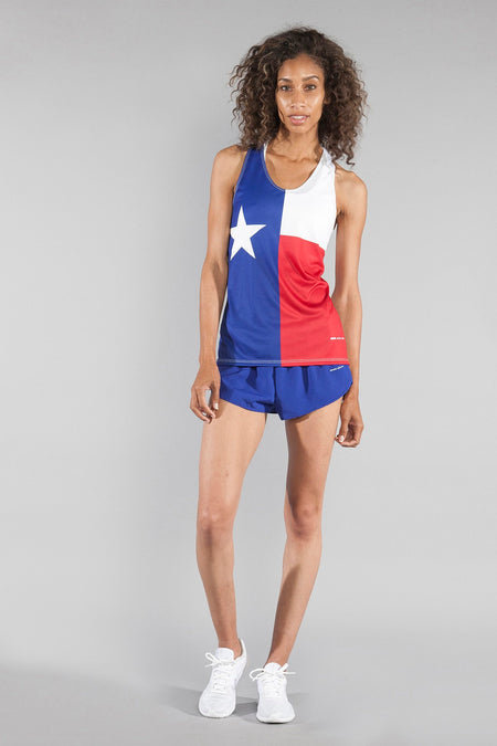 "WOMEN'S 1"" ELITE SPLIT SHORT- TEXAS FLAG"