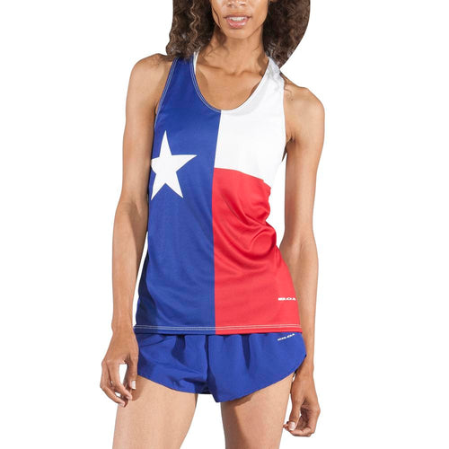 Women's Texas Flag Interval Singlet