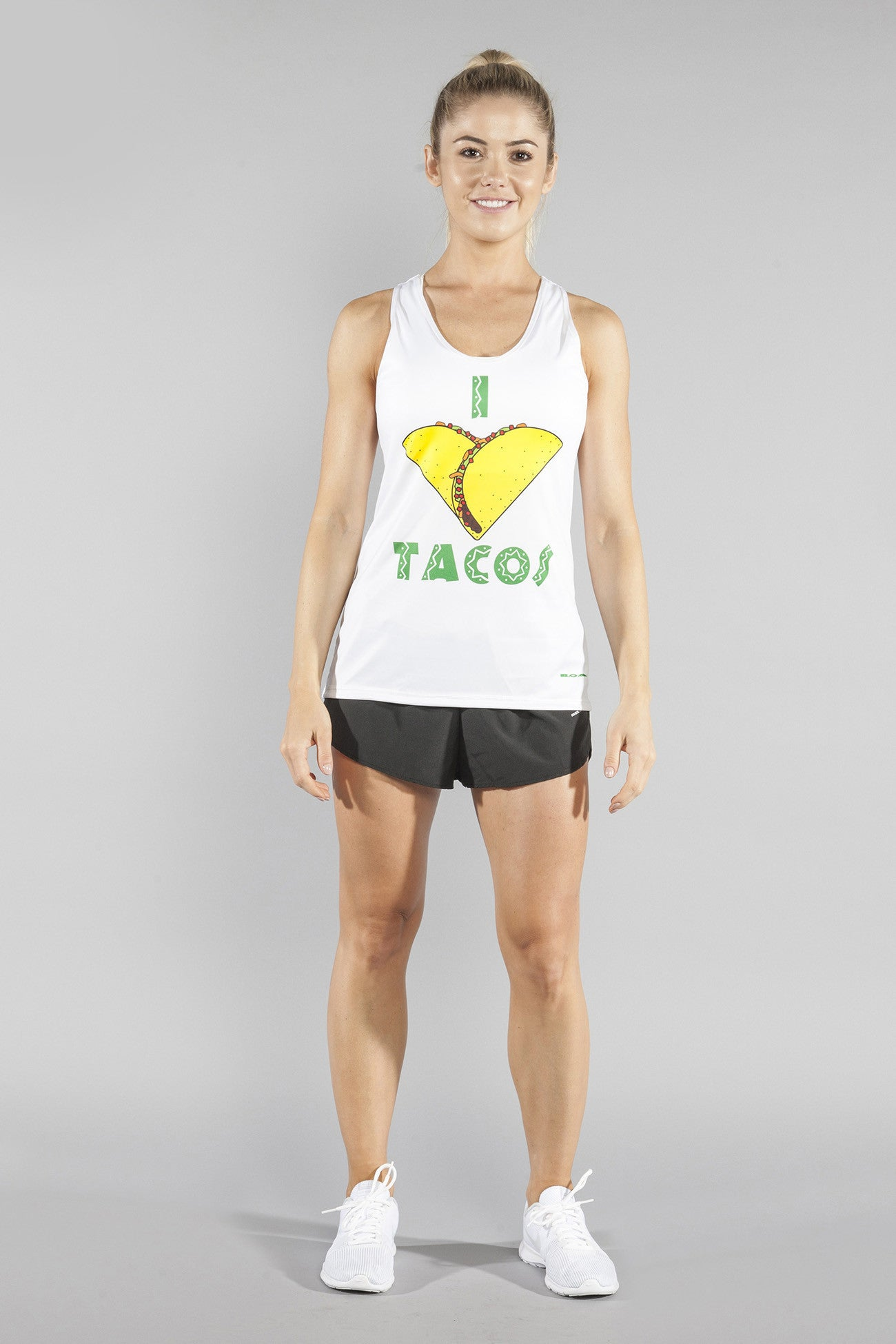 ae3234330cc WOMEN'S INTERVAL SINGLET- TACO! – BOA | Running Shorts & Clothing | Made in  the USA