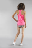 WOMEN'S INTERVAL SINGLET- HOT PINK - BOAUSA