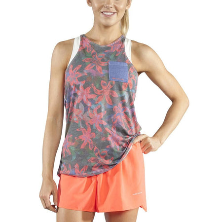 Women's Current Black Hypersoft Twisty Back Tank