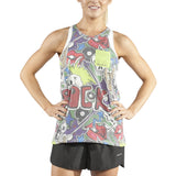 WOMEN'S PRINTED 50/50 TWISTY BACK- PUNK ROCK