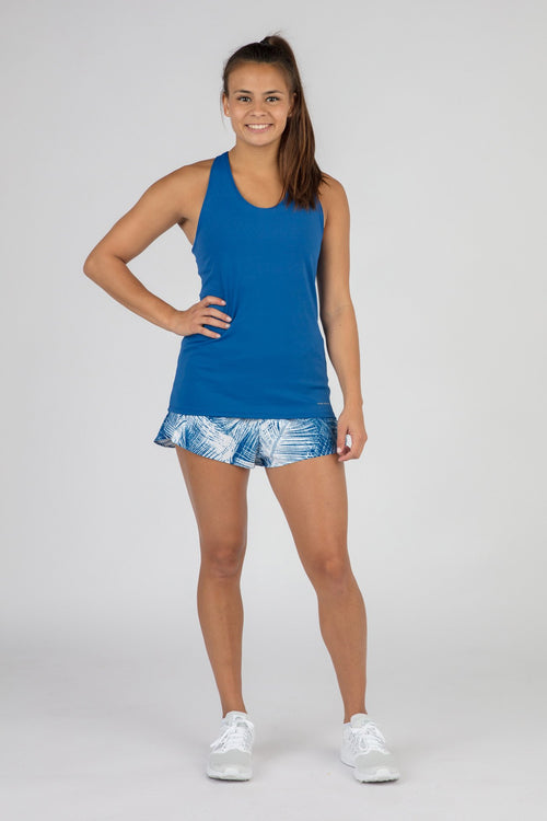 WOMEN'S ACTIVE EASE RUNNING SINGLET- PACIFIC BLUE
