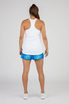 WOMEN'S ACTIVE EASE RUNNING SINGLET- WHITE
