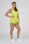WOMEN'S HYPERSOFT RUNNING SINGLET- CURRENT LIMEADE