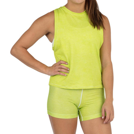 Women's Neon Lime Interval Singlet