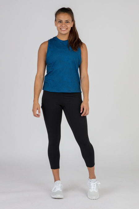 WOMEN'S HYPERSOFT CROP RUNNING TANK TOP- CURRENT LIMEADE