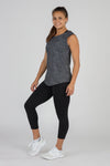 WOMEN'S HYPERSOFT CROP RUNNING TEE SHIRT- CURRENT BLACK