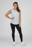 WOMEN'S HYPERSOFT CROP RUNNING TEE SHIRT- CURRENT SILVER