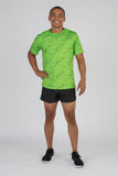 Men's Illusion Lime Hypersoft Short Sleeve Shirt