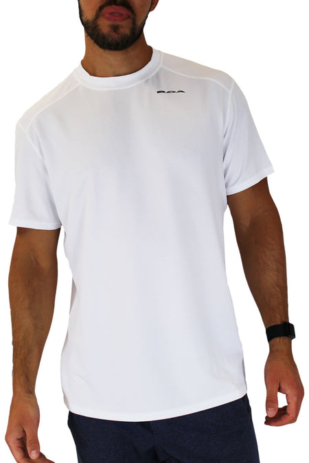 MEN'S COOLTEC PROTECT SHORT SLEEVE RUNNING SHIRT- CYPHER ELECTRIC