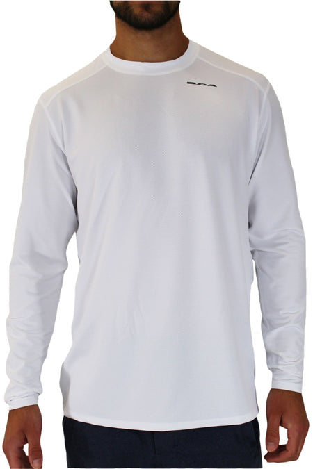 MEN'S VERSATEX CANYON SHORT SLEEVE RUNNING SHIRT- WHITE