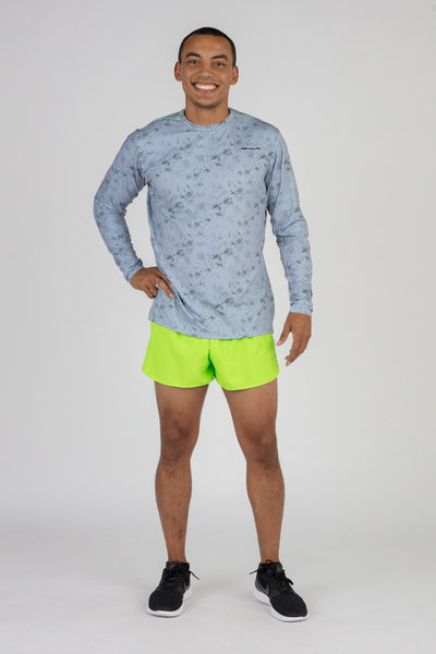 MENS HYPERSOFT LONG SLEEVE RUNNING SHIRT- ILLUSION STEEL