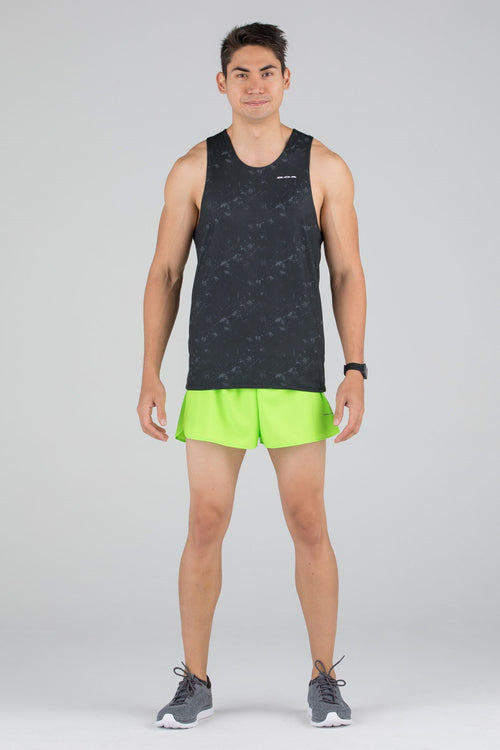 MENS HYPERSOFT RUNNING SINGLET- ILLUSION BLACK