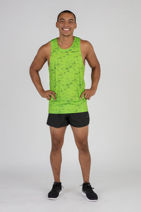 MEN'S VERSATEX RIDGE SLEEVELESS RUNNING SHIRT- HYPER MINI COBALT