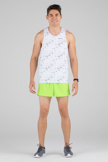 MEN'S PRINTED SINGLET- RUNNING RAINBOWS