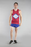 MEN'S PRINTED SINGLET- ARKANSAS - BOAUSA