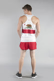MEN'S PRINTED SINGLET- CALIFORNIA - BOAUSA