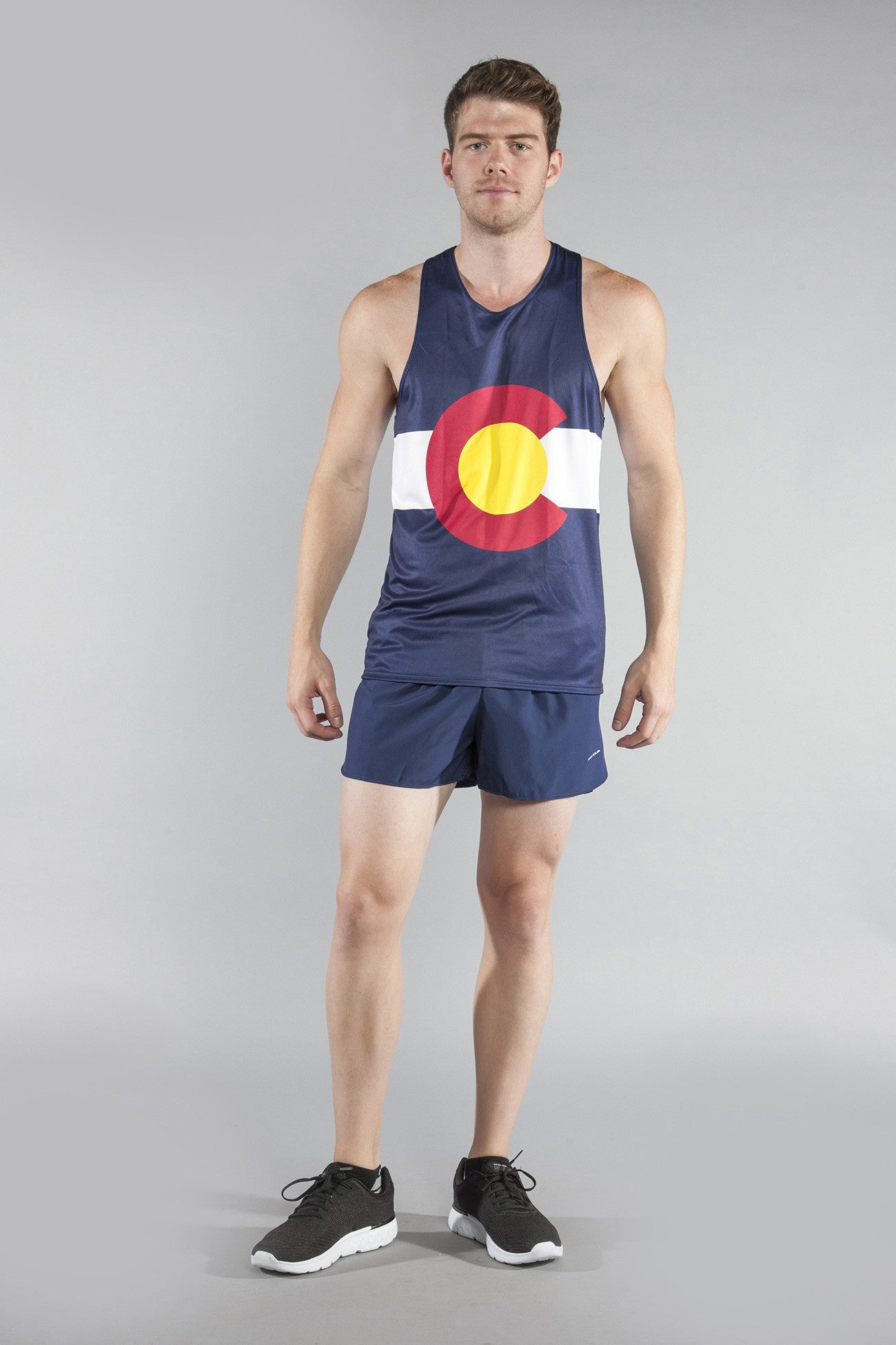 Men's State Flags - Singlets – BOA | Running Shorts & Clothing