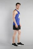 MEN'S PRINTED SINGLET- CONNECTICUT - BOAUSA
