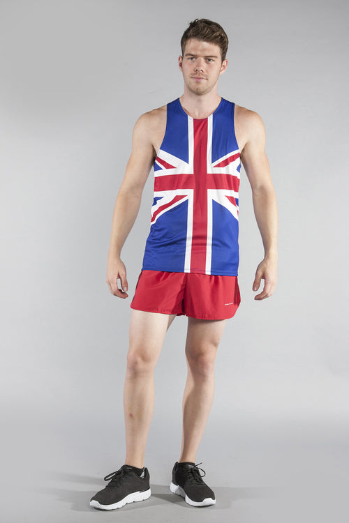MEN'S PRINTED SINGLET- GREAT BRITAIN - BOAUSA