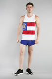 MEN'S PRINTED SINGLET- GEORGIA - BOAUSA
