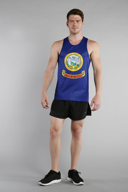 MEN'S PRINTED SINGLET- KANSAS