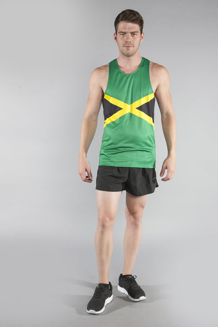 MEN'S PRINTED SINGLET- GEORGIA