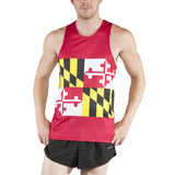 MEN'S PRINTED SINGLET- MARYLAND